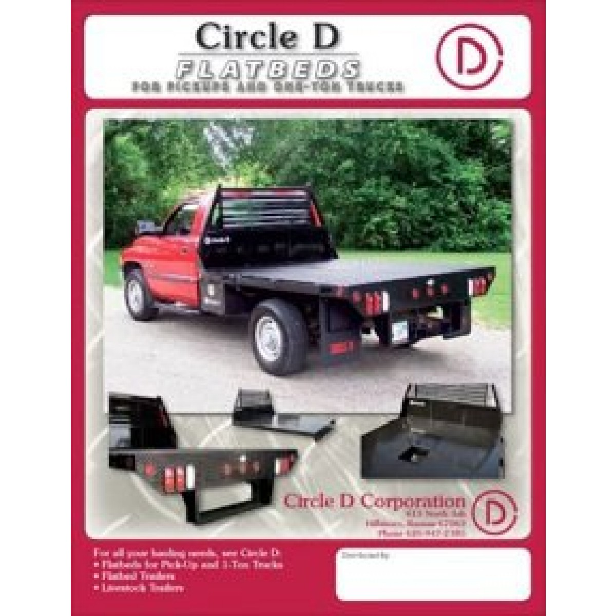 Circle D Flat Bed Pickup Flatbeds Bumpers Wiring Box Trailer Email