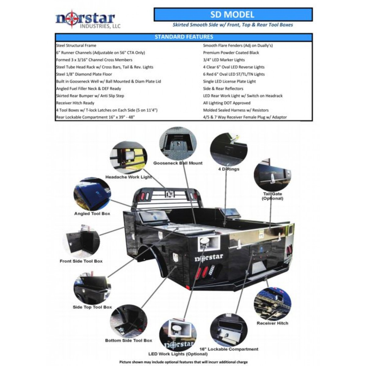 Norstar Flatbed For Pickup And Trucks Trailer Wiring Diagram Adams Email