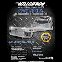 Hillsboro 2500 Series Aluminum Flat Bed