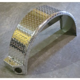 PJ Single Axle Diamond Plate Fender