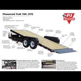 New PJ 20' Equipment POWER Tilt Trailer 14k