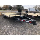 2021 PJ F8 22' Deckover Trailer w/ slide in rear ramps (14k)