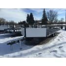 Adams 20' 4  Place Open Snowmobile Trailer (Metal Deck)