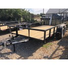 "2021 GR 77"" x 16' Tandem Axle Utility Trailer w/ Rear Ramp Gate"