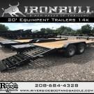 New Iron Bull 20' Equipment w/Rampage Ramps
