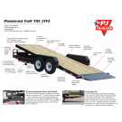 New PJ 20' Equipment POWER Tilt Trailer 14k