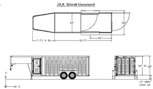 merritt stock combo trailer